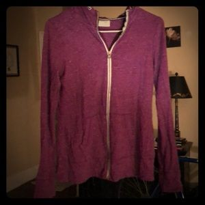 Purple and White Flecked Hoodie!